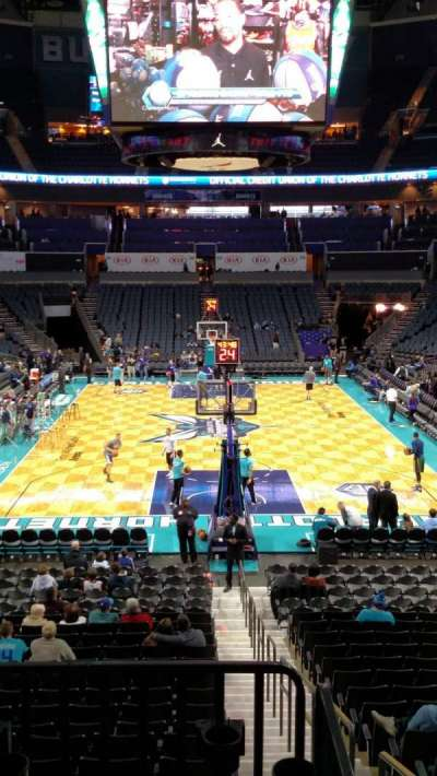 Spectrum Center, section: 101, row: R, seat: 2