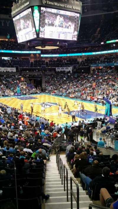 Spectrum Center, section: 103, row: R, seat: 1