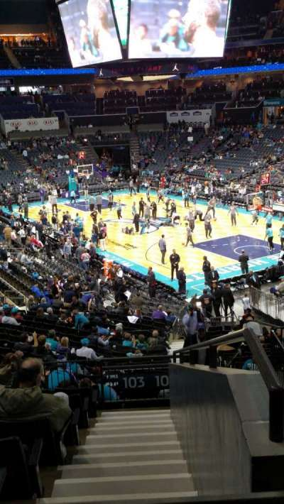 Spectrum Center, section: 103, row: AA, seat: 3