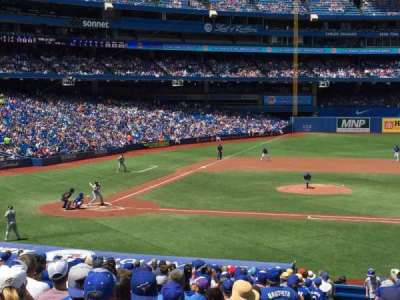 Rogers Centre, section: 117R, row: 34, seat: 1-4