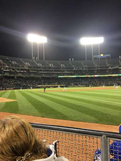 Oakland Alameda Coliseum, section: 105, row: 2, seat: 10-11