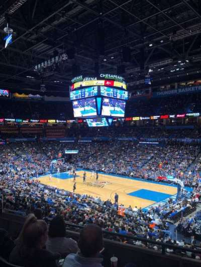 Chesapeake Energy Arena, section: 220, row: D, seat: 9