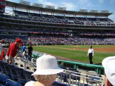 Nationals Park, section: 132L, row: E, seat: 4