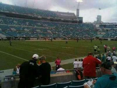 TIAA Bank Field, section: 115, row: D, seat: 6