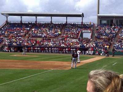 Space Coast Stadium, section: 101, row: 2, seat: 17