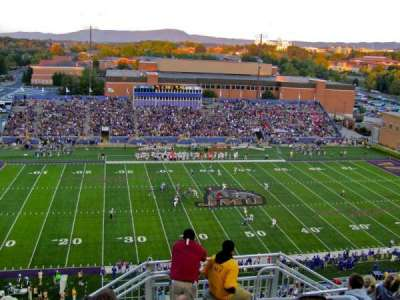 Bridgeforth Stadium, section: 408, row: I, seat: 3