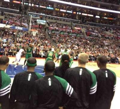 Staples Center, sección: 112, fila: A, asiento: 17