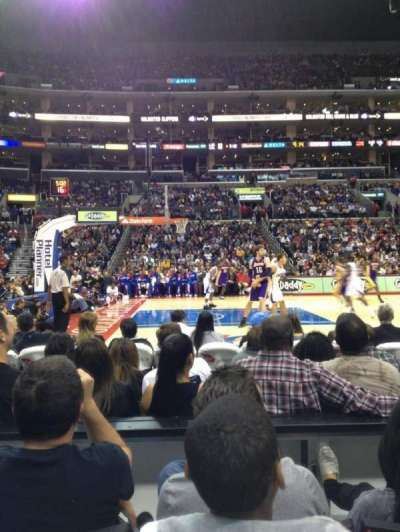 Staples Center, section: 112, row: 3, seat: 13