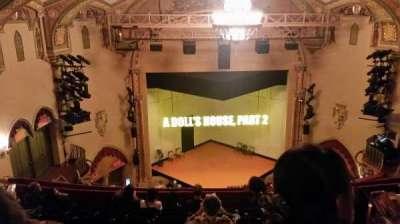 John Golden Theatre, section: Rear Mezzanine, row: H, seat: 107