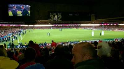 Principality Stadium, section: L1, row: 27, seat: 17