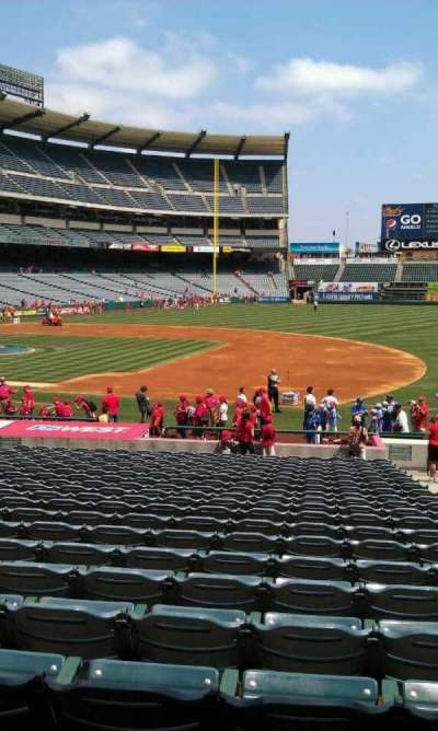Angel Stadium, section: F126, row: z, seat: 25