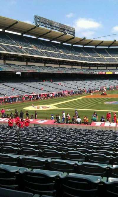 Angel Stadium, section: F124, row: z, seat: 25