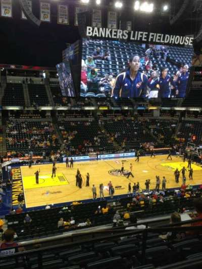 Bankers Life Fieldhouse section 118