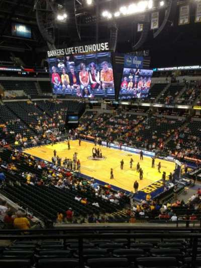Bankers Life Fieldhouse section 114