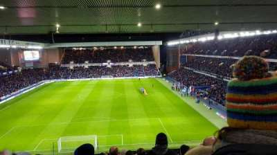 Ibrox Park, section: Broomloan rear, row: AA, seat: 63