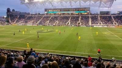 PPL Park, section: 125, row: W, seat: 7