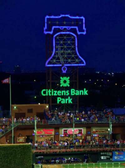 Citizens Bank Park, section: 324, row: 4, seat: 23