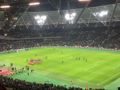 London Stadium, section: 214, row: 64, seat: 240
