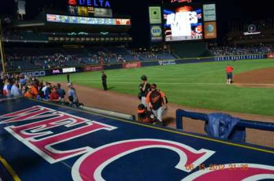 Turner Field section Dugout 116