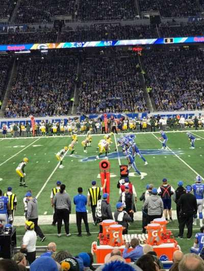 Ford Field, section: 106, row: 5, seat: 7