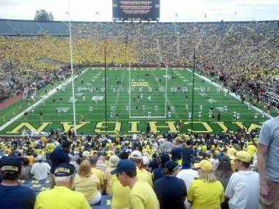 Michigan stadium, section: 12, row: 65, seat: 10