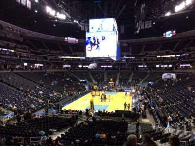 Pepsi Center, section: 110, row: 22, seat: 18