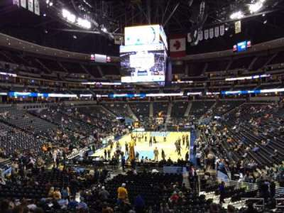 Pepsi Center, section: 134, row: 22, seat: 18