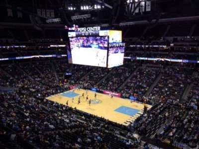 Pepsi Center, section: 333, row: 2, seat: 20