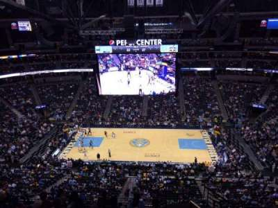 Pepsi Center, section: 302, row: 12, seat: 1