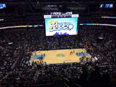 Pepsi Center, section: 304, row: 12, seat: 1