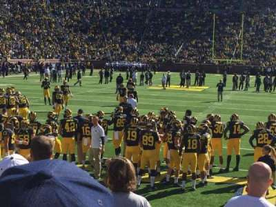 Michigan Stadium, section: 33, row: 6, seat: 10