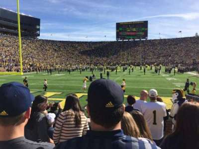 Michigan Stadium, section: 33, row: 6, seat: 9