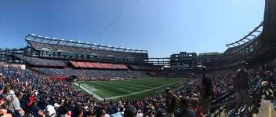 Gillette Stadium, section: 138, row: 32, seat: 5