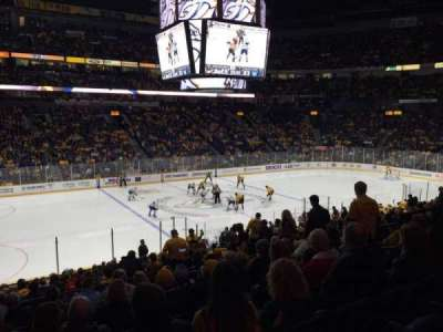 Bridgestone Arena, section: 114, row: K, seat: 9