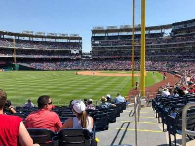 Nationals Park, section: 106, row: P, seat: 7