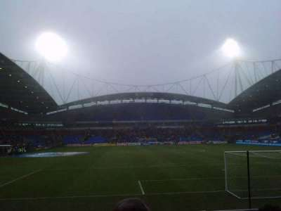 Macron Stadium, section: South Stand Lower, row: J, seat: 92