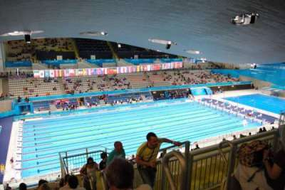 London Aquatics Centre, section: 313, row: 21, seat: 162
