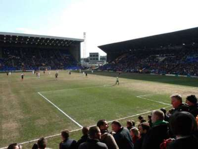 Prenton Park, section: Cowshed Stand, row: J, seat: 18