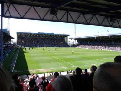 Fratton Park, section: R, row: V, seat: 143