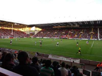Bramall Lane, section: John Street Stand Gangway G, row: M, seat: 175