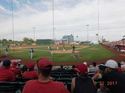 Tempe Diablo Stadium, section: 10, row: J, seat: 5