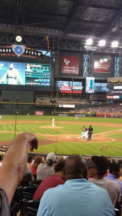 Chase Field, section: K, row: M, seat: 9