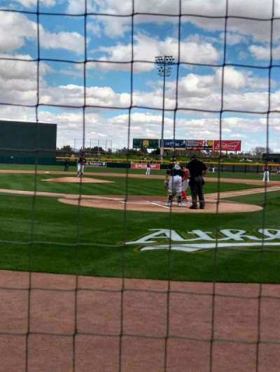 HoHoKam Stadium, section: 102, row: 1, seat: 5