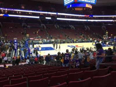 Wells Fargo Center, section: 123, row: 19, seat: 11
