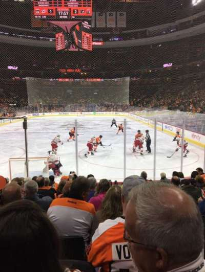 Wells Fargo Center, section: 107, row: 10, seat: 13