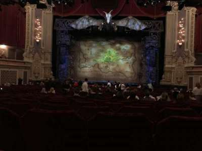 Oriental Theatre, section: ORCH-C, row: Y, seat: 109
