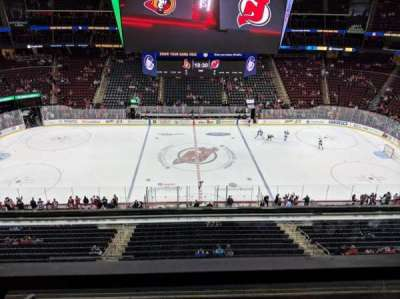 Prudential Center, section: 128, row: 1, seat: 4