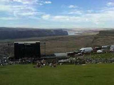 Gorge Amphitheatre, section: Lawn, row: Top