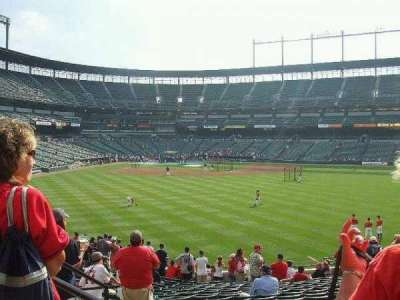 Oriole Park at Camden Yards section Center Field