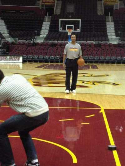 Quicken Loans Arena, section: Court